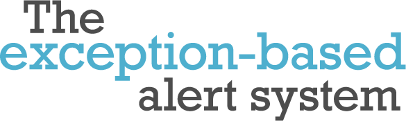 The exception-based alert system